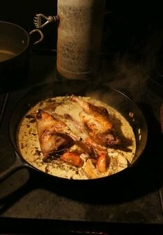 Grouse in Cider Cream