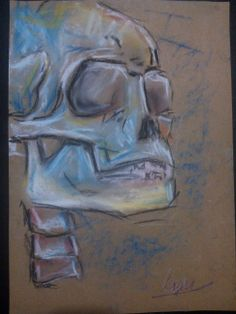 skull - pastel