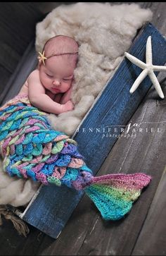 Newborn/Baby Crocodile Stitch Mermaid Tail by AshandEmberBoutique