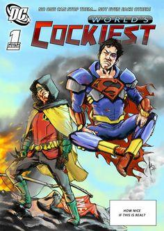 Damian wayne and superboy prime Superboy Prime, Damian Wayne, Comic Books, Comics, Cover, Shopping, Cartoons, Cartoons, Comic