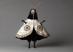 """Untitled (Moth man) from the """"Creatures"""" series by English artist Cat Johnston. Photo by Christina Solomons. via Christina Solomons Photography Character Inspiration, Character Design, Arte Obscura, Costume Design, Art Inspo, Puppets, Wearable Art, Art Dolls, Concept Art"""