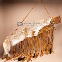 Native American Coyote Pelt Rifle Case -Deer Skin (gc1) - Mission Del Rey Southwest