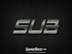 Action style – SUB (free photoshop layer style, text effect) Free Photoshop, Layer Style, Text Effects, Action, Group Action