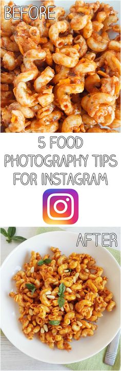 5 simple food photography tips for Instagram - just a few small changes can make a huge difference to your photos!