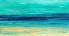 """Mixed Media Artists International: Mixed Media Abstract Seascape Painting """"Serenity"""" by California Artist Cecelia Catherine Rappaport"""