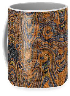 Orange Composition Abstract Coffee Mug featuring the digital art Orange Composition Abstract by Tom Janca