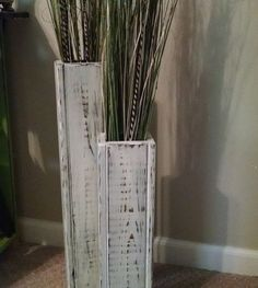 Floor Vases Made From Pallets --- #pallets