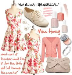 Miss Honey inspired outfit from Matilda: The Musical! I am kind of in love with… Dapper Day Outfits, Cute Outfits, Miss Honey Matilda, Broadway Outfit, Matilda Costume, Character Inspired Outfits, Character Costumes, Disney Themed Outfits, Fandom Outfits