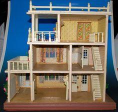 antikes Moritz Gottschalk Puppenhaus mit 3 Etagen * 20er Jahre