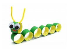 Super Fun Kids Crafts : Toilet Paper Roll Crafts For Kids Fun to make after reading a book like The hungry caterpillar Fun Crafts For Kids, Toddler Crafts, Crafts To Do, Preschool Crafts, Projects For Kids, Diy For Kids, Arts And Crafts, Kids Fun, Craft Activities