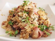 Lchf: Risotto med sopp og bacon.