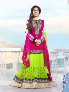 SV-KA0178 at JUST @ $74 Buy at http://www.shopvhop.com/product/ankle-length-dark-pink-juhi-chawala-designer-collection-16003/