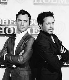 Jude Law & Robert Downey Jr