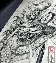 #samurai#drawing#Blackandgreytattoo#asiantattoo#europeantattoo#Asianink#chinesetattoo#japanesetattoo#maart#Slovenia#worldofpencils#sketch#illustration#irezumi#tattoolife#tattooartist