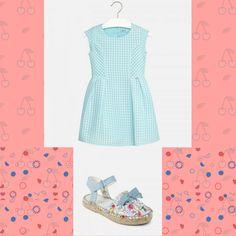 Lumea copilului tău e pictată în culori pastel? Atunci acesta va adora 💙😍 această combinație între rochița cu pliuri în culoarea Aquamarine, una dintre cele mai frumoase pietre semiprețioase și aceste espadrile colorate ce au un aer văratic!  Coduri produse:45847PV18ABS, 6944PV18AQ  #marabukids #mayoral #tinutazilei #hainecopii Boutique, Mai, Pastel, Summer Dresses, Fashion, Moda, Cake, Summer Sundresses, Fashion Styles