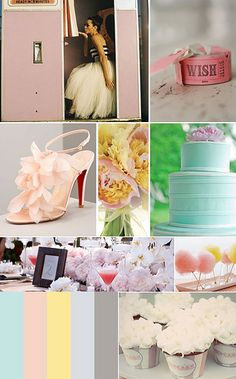 Pastel+Carnival+Wedding+Inspiration+Board