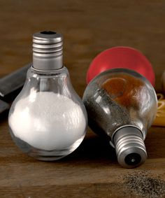 DIY with Hobby Lobby for less :-)   This Salt 'n' Pepper Light Bulb Shakers is perfect! #zulilyfinds