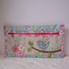 appliqued pencil pouch