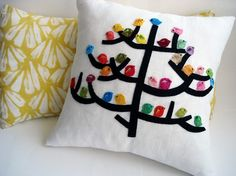 bird/tree pillow