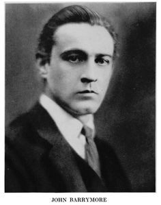 John Barrymore was apart of the famous Barrymore family in acting.  He worked on stage and screen both.  His first movies were in the silent era of film making. He is the grandfather of actress Drew Barrymore.