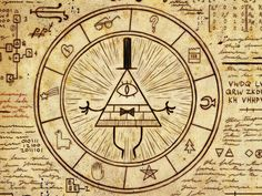 What do the pine tree and shooting star on the Cipher Wheel most likely stand for?
