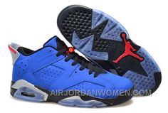 Air Jordan 6 Retro Low Eminem Custom Royal Blue Black-Grey Online New f8d75e4bdf
