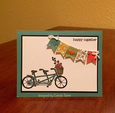 Pedal Pushers card, Stampin'Up! Sale-a-bration 2016