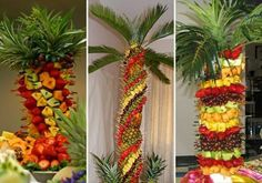 Palm tree fruit and pineapples Fruit Centerpieces, Fruit Decorations, Fruit Arrangements, Palm Tree Fruit, Fruit Trees, Palm Trees, How I Lost Weight, Quick Weight Loss Diet, Weight Gain