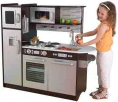 Toy Kitchen Sets Wine Themed Rugs 9 Best Set Images Play Kitchens Toys For Kidkraft Uptown Espresso Is A High Quality With Appliances That Open And Close Allowing Pots Pans To Be Stored Inside