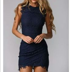 """Hello Molly """"One in a Million"""" Dress Brand New. Never Worn. Mini Dress. Cute. Stylish. Ready for any event night out to date night to wedding guest this dress is ready for anything!!                                                                       Fits Small. Navy Blue. Australian Size 12. US size 8. Hello Molly Dresses Mini"""