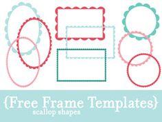 Free scallop frames