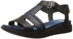 Camper Womens Miri T Strap Wedge Sandal Multi Assorted 39 EU9 M US *** For more information, visit image link.