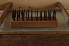 Antique Primitive Flax Comb Vintage Primitive by VandyleeVintage