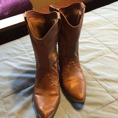 Cute cowgirl boots Very cute in excellent condition worn once Faded Glory Shoes Heeled Boots