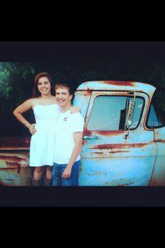 #couple #highschoolsweethearts #oldtruck