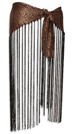 long black fringe coverup | Black Brocade and Fringe Belly Dance Hip Scarve - At DancingRahana.com