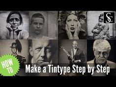 Wet Plate Collodion - How to make a tintype step by step. - YouTube