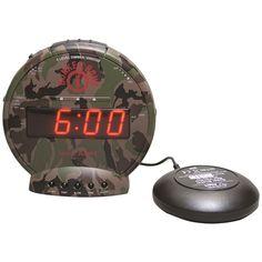 Sonic Alert Bunker Alarm Clock With Super Shaker