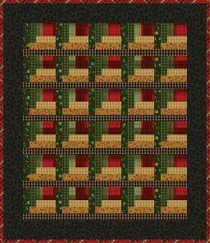 Love this log cabin patch.