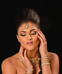 Indian Makeup and Hair! Crystal on the eyes!! Check out our facebook page www.facebook.com/GokaLove.MakeupAndHair and check us out on Instagram @gokalovemakeupandhair