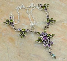 Gift Of Nature Multigem Sterling Silver Necklace price: $114.22  #Popular  #Jewelry  #Fashion