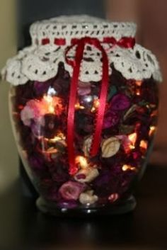 Homemade Potpourri Holiday Jar Light