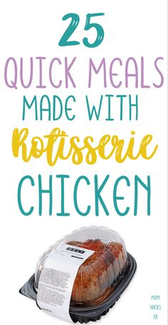 Recipes Using Rotisserie Chicken, Chicken Recipes, Quick Chicken Dinner Recipes, Beef Recipes, Recipies, Chicken Ideas, Recipe Chicken, Easy Recipes, Healthy Recipes