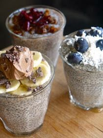 Chia Seed Pudding - amazingly delicious breakfast, dessert or snack - full of nutrients and health benefits! Dairy Free Recipes, Raw Food Recipes, Cooking Recipes, Gluten Free, Jus Detox, Chia Recipe, Raw Desserts, Sans Gluten, Vegan Snacks