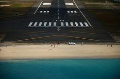 Final approach over Maho Beach, St. Maarten.