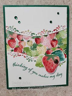 Becky's Stampin' Studio: Curvy Strawberries