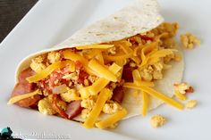 Easy Breakfast Tacos - Dishes and Dust Bunnies