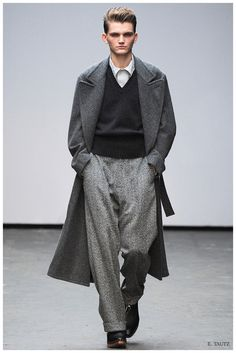 39e77b9c Delivering a strong, sartorial lineup that featured soft tailoring and  various shades of gray,