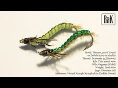 """Tying """"Kaspar Green Caddis Larva"""" - Rhyacophila (Nymphs) by B&K - YouTube"""