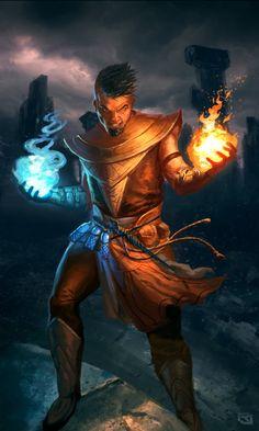 Karacterz mage card by rob-joseph on deviantart х fantasy art, fantasy и fa Fantasy Girl, Fantasy Heroes, Fantasy Rpg, Medieval Fantasy, Fantasy Artwork, Fantasy Wizard, Fantasy Male, Character Concept, Character Art